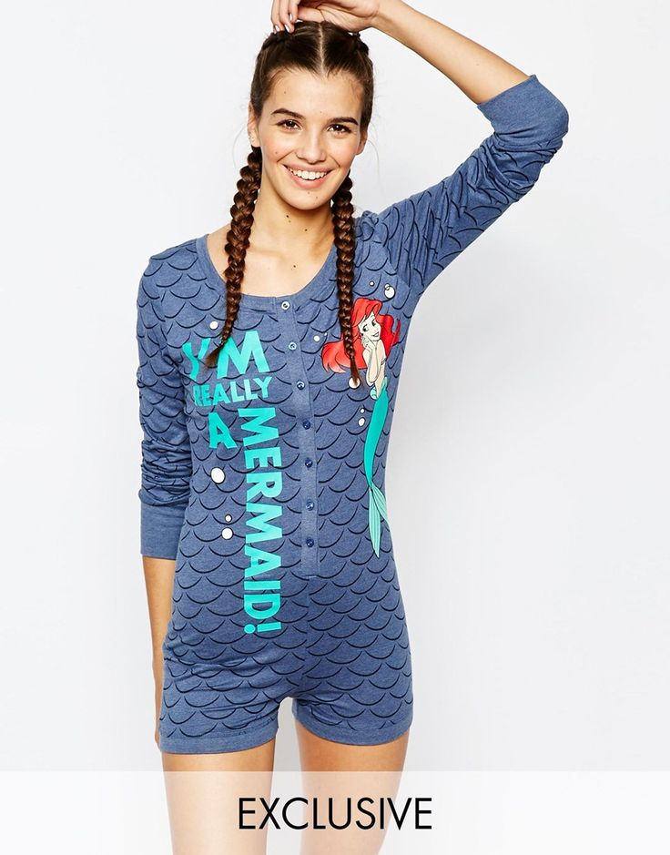 Missimo Disney Mermaid Pajama Romper