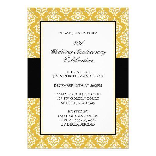 149 best 50th Golden Anniversary images on Pinterest 50th wedding - fresh invitation samples for 50th wedding anniversary