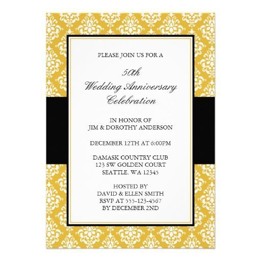 Golden Wedding Anniversary Invitations Wording: 17 Best Images About 50th Golden Anniversary On Pinterest