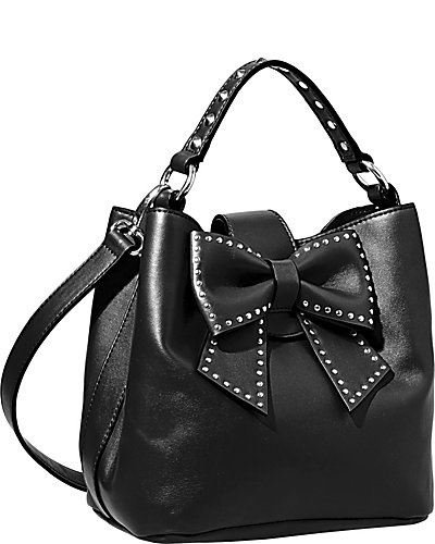 Betsey Johnson Hopeless Romantic Bucket Tote, $118. Somewhere between twee and tough.