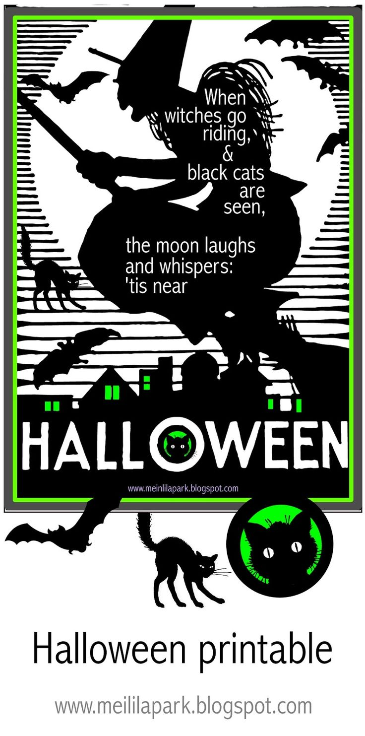 free printable halloween for decoration