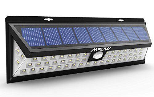 Mpow Lampe solaire 54 LED extérieure étanche IP65 sans fil 800 lumens Luminaire exterieur/ Spot exterieur 120 ° Grand Angle reglable avec…