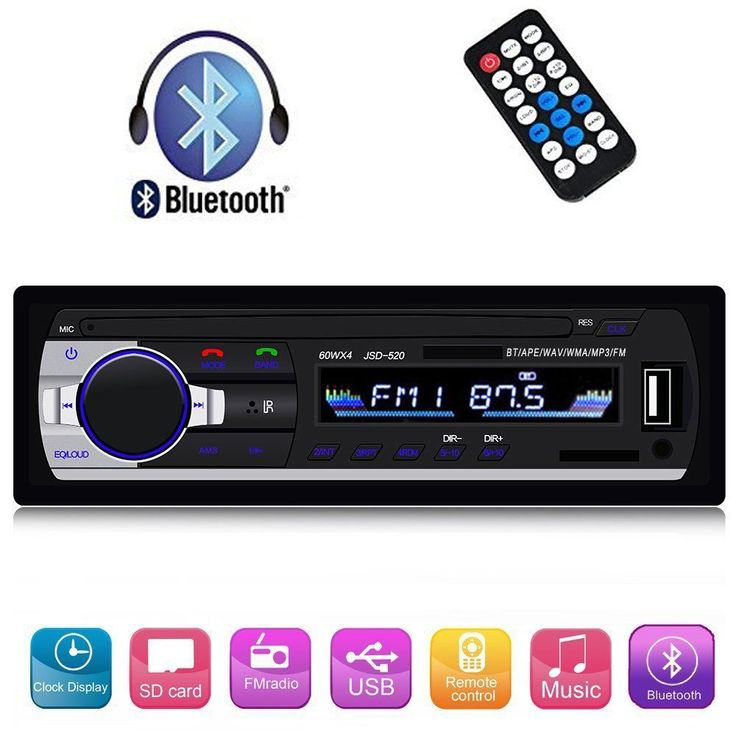 Single Din Car Stereo FM Radio Audio Receiver Bluetooth MP3/USB/SD/AUX Remote #SPEEDTON