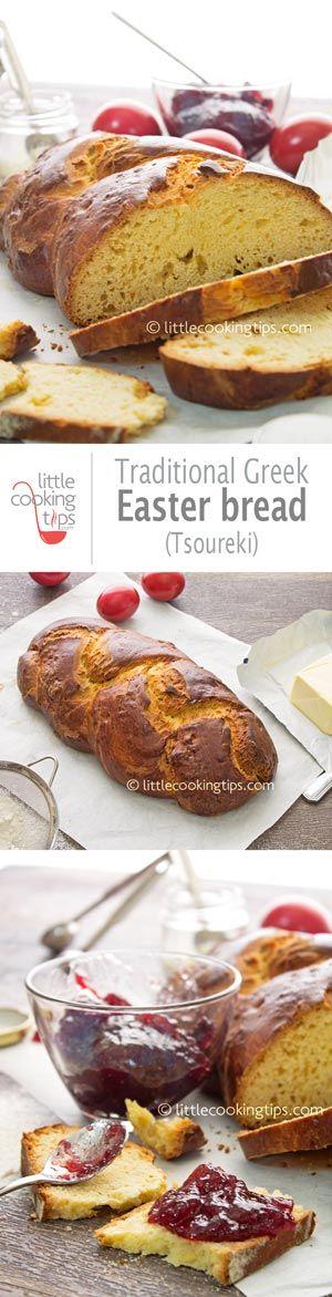 Traditional Greek Easter Bread (Tsoureki)