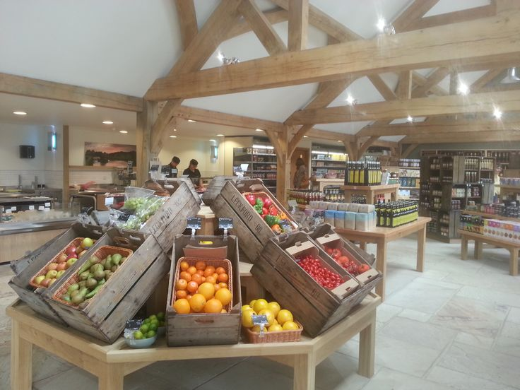 Waitrose farm shop in Leckford- opened August 2013. Entire format emphasises commitment to creating a transparent and ethical supply chain which tackles issues of trust and traceability