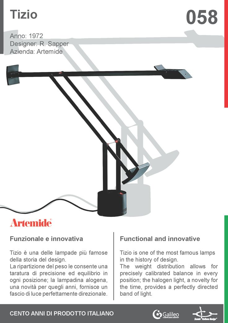 100 best 100 years of italian products images on pinterest alessi tizio by richard sapper for artemide 1972 lamp balance light cheapraybanclubmaster Gallery