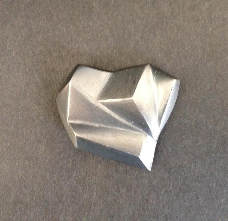Shape My Heart, oxidised silver Amulet