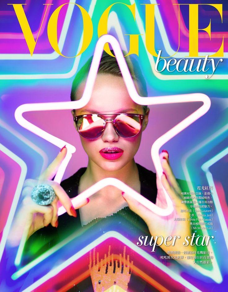Mae Van Der Weide | Vogue Taiwan | Neon Makeup Editorial