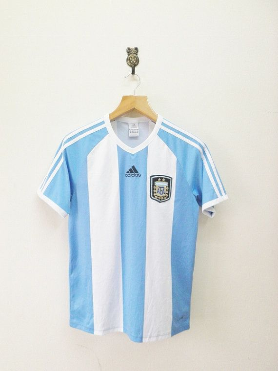 Vintage Adidas Argentina Football Team Jersey by RetroFlexClothing