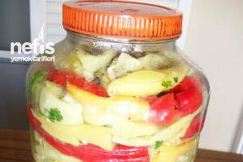 Yağlı Biber Turşusu Tarifi. Pickles en aceite