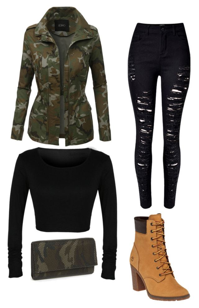 Rita Ore by mag11rich on Polyvore featuring polyvore, fashion, style, LE3NO, Timberland, La Regale and clothing
