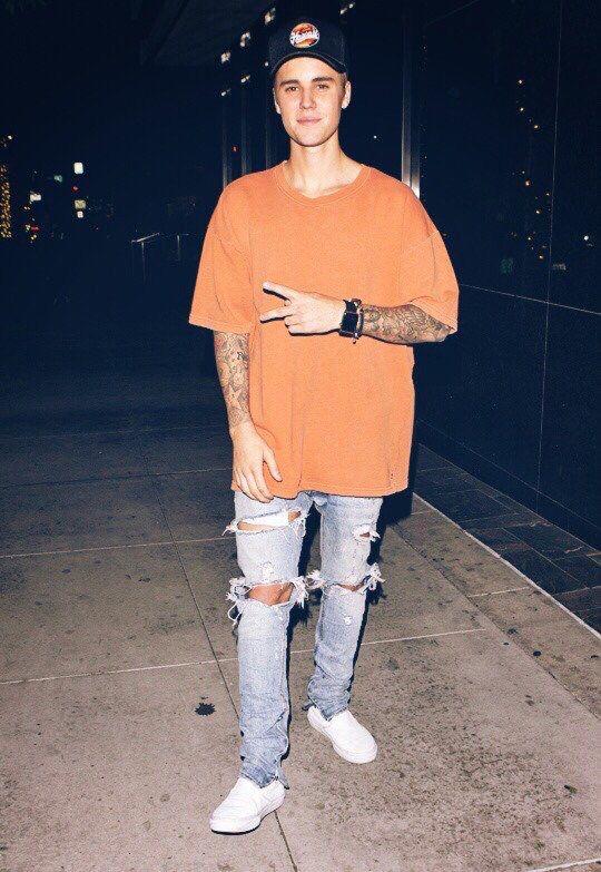 Mens Side Elastic Jeans