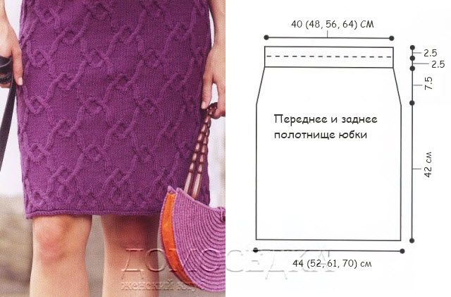 Pletené sukně s Aran