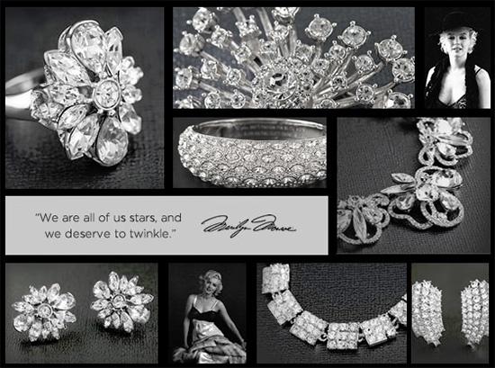 22 best Marilyn Monroe Jewelry images on Pinterest Marilyn