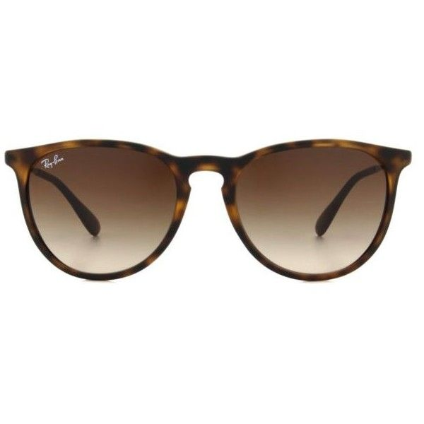 Ray-Ban Erika RB4171 Women's Sunglasses ($115) ❤ liked on Polyvore featuring accessories, eyewear, sunglasses, tortoise, ray-ban, round tortoiseshell sunglasses, round tortoise sunglasses, round sunglasses and acetate glasses