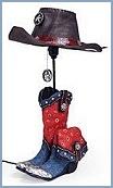 Cute cowboy lamp. #WhereIsYoungAmerica #WildWildWest