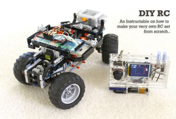 How to build a DIY Arduino remote control and Lego RC vehicle http://www.instructables.com/id/Build-your-own-Custom-Arduino-Remote-Control-and-L