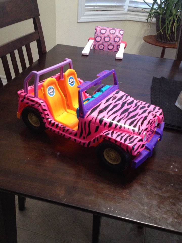 Barbie car gets a Monster High make-over