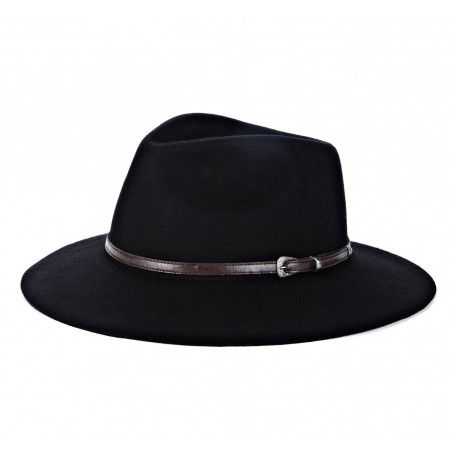 Sole Society Outback Wide Brim Black Hat, panama hat, fedora, fashion, style, clothing, accessories - $49.95