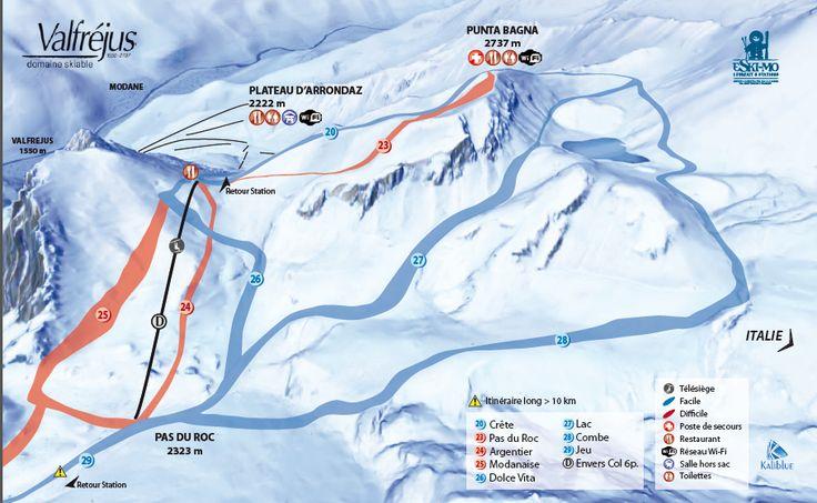 Plan des pistes | Valfréjus, station de ski Savoie, Maurienne - Vacances ski : domaine skiable, forfait, webcam, météo Les plans de pistes du domaine skiable de Valfréjus