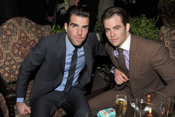 Chris Pine and Zachary Quinto - #PinItToWinIt #Giveaway - Star Trek Into Darkness Limited Edition Phaser and Bluray Gift Set! Go To https://www.facebook.com/MovieRoomReviews/app_228910107186452 to Enter!