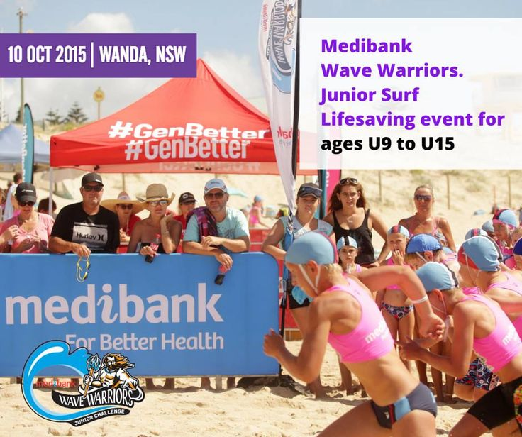 Wanda, NSW, we'll be seeing you on Saturday 10th October!  Head on over to our website for all the details: http://bit.ly/wanda2015  All Medibank members will receive a 15% discount on checkout.  #medibankwavewarriors #medibank #wavewarriors #wanda #juniorslsc #GenBetter