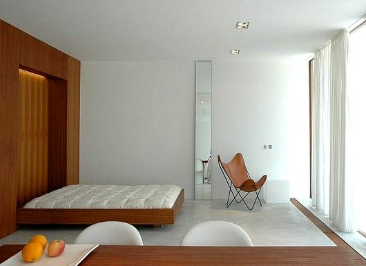 leave it to the scandinavians to create an awesome, modern murphy bed
