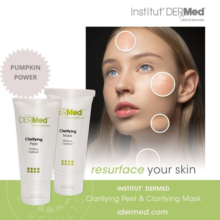 Resurface Your Skin With The Clarifying Mask And Peel From Institut Dermed Institut Dermed Professional Skin Care Products Skin Care Skin