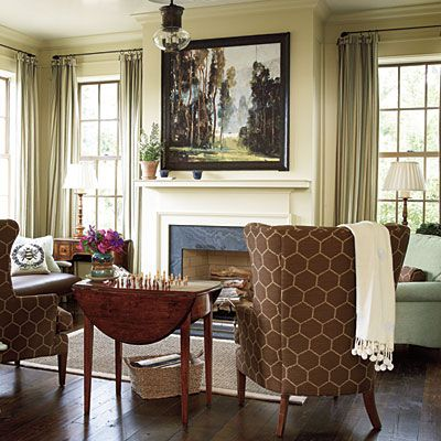 southern living room designs. i really want to add a family room off the kitchen. from southern living: living designs