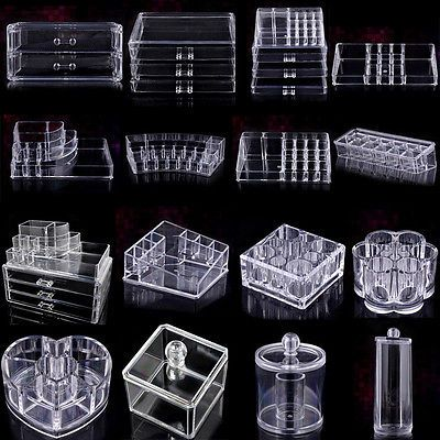 Acrylic #clear make up organiser cosmetic display #jewellery drawers #storage cas,  View more on the LINK: http://www.zeppy.io/product/gb/2/390785502513/