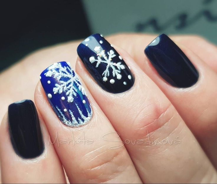 Bring winter's icy cold to your nails with this beautiful, delicate snowflak…