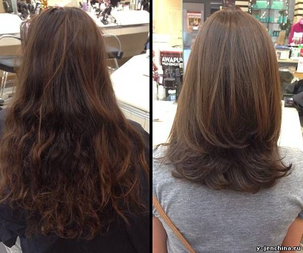 Каскад на кончиках волос