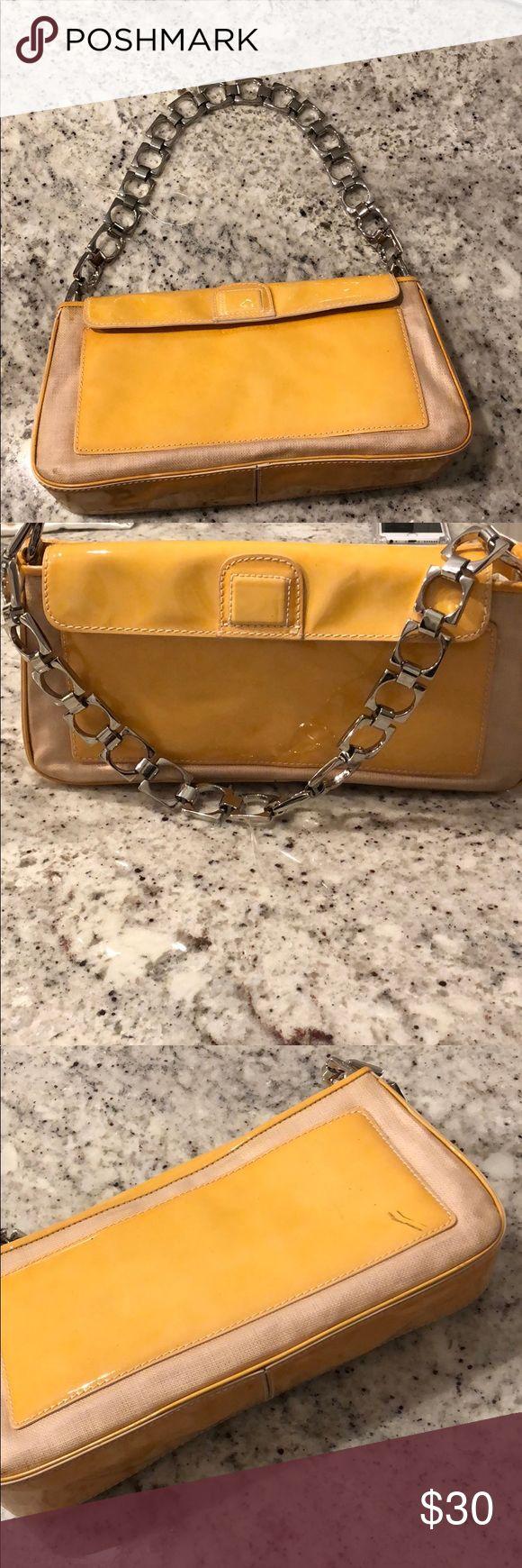 Retro Cole Haan purse ⭐️NWT⭐️Yellow Vintage/Retro Cole Haan bag. Small scratch on back. Cole Haan Bags Shoulder Bags