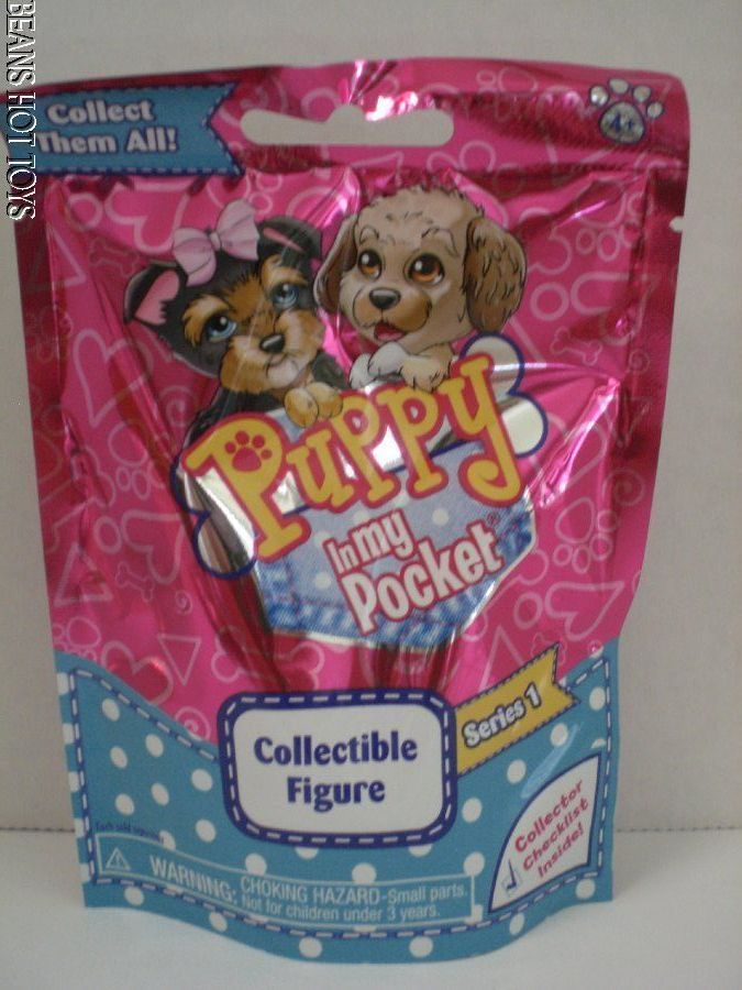 Puppy In My Pocket  Blind Bags 2015 Series 1 NEW  Set of 5 unopened #JustPlay