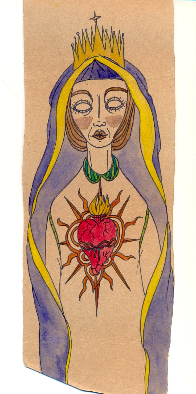 Maria Imaculada (final work) - São Marias project - 2012, by Maria Oliveira.