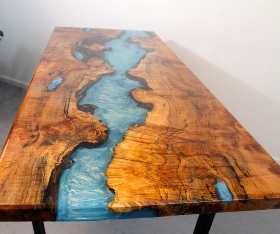 River Table Dining Tables Etsy In 2020 Wood Table Design