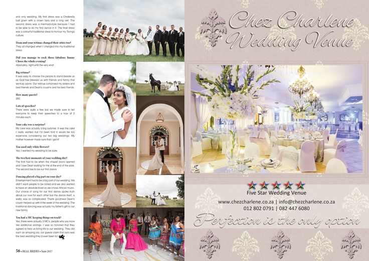 Chez Charlene 5 Star Wedding Venue - Pretoria East - Gauteng - www.chezcharlene.co.za - Real Brides June 2017