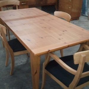 Wonderful Knotty Pine Dining Room Table