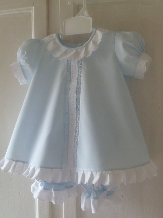 Baby Dress and Bloomers by justforbabyonetsy on Etsy, $63.00