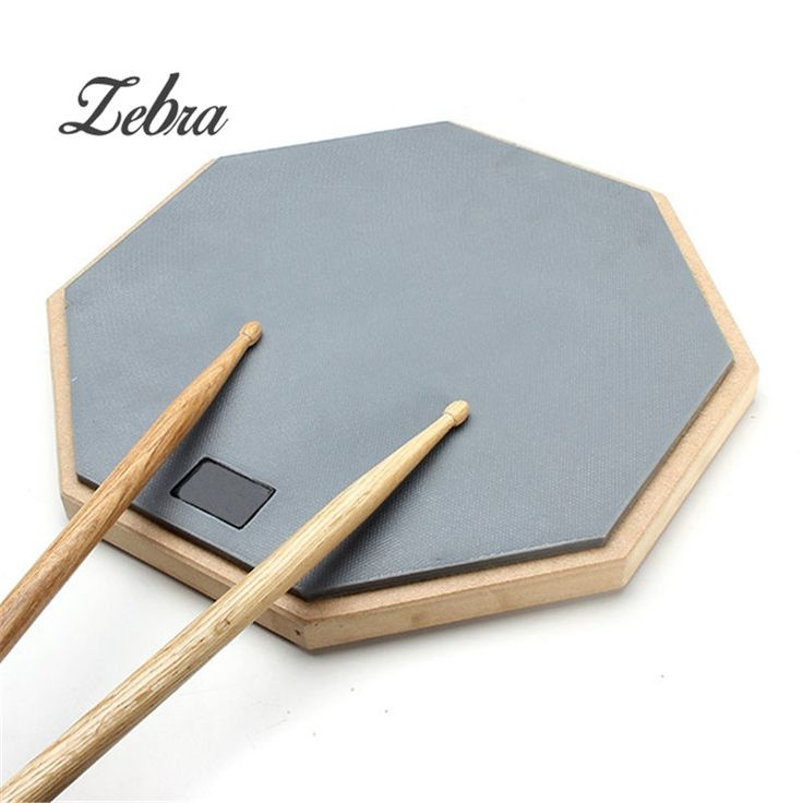 24.44$  Buy now - http://alijhj.shopchina.info/1/go.php?t=32814666375 - Zebra Hot Sale 12'' Rubber Practice Drum Pad Silence Drum For Beginner  Musical Instruments  #aliexpressideas