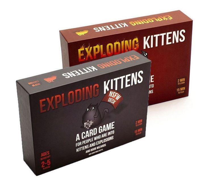 Exploding Kittens Original Edition and NSFW Edition