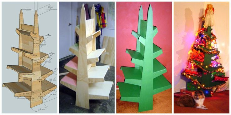 Now all my creatively wrapped presents can be seen! (instead of piled up on each other, crushing bows). This Shelf Christmas Tree is efficient, exactly what we need for our small house (680sf). I'd like to develop a half circle design that fits flush to the wall.