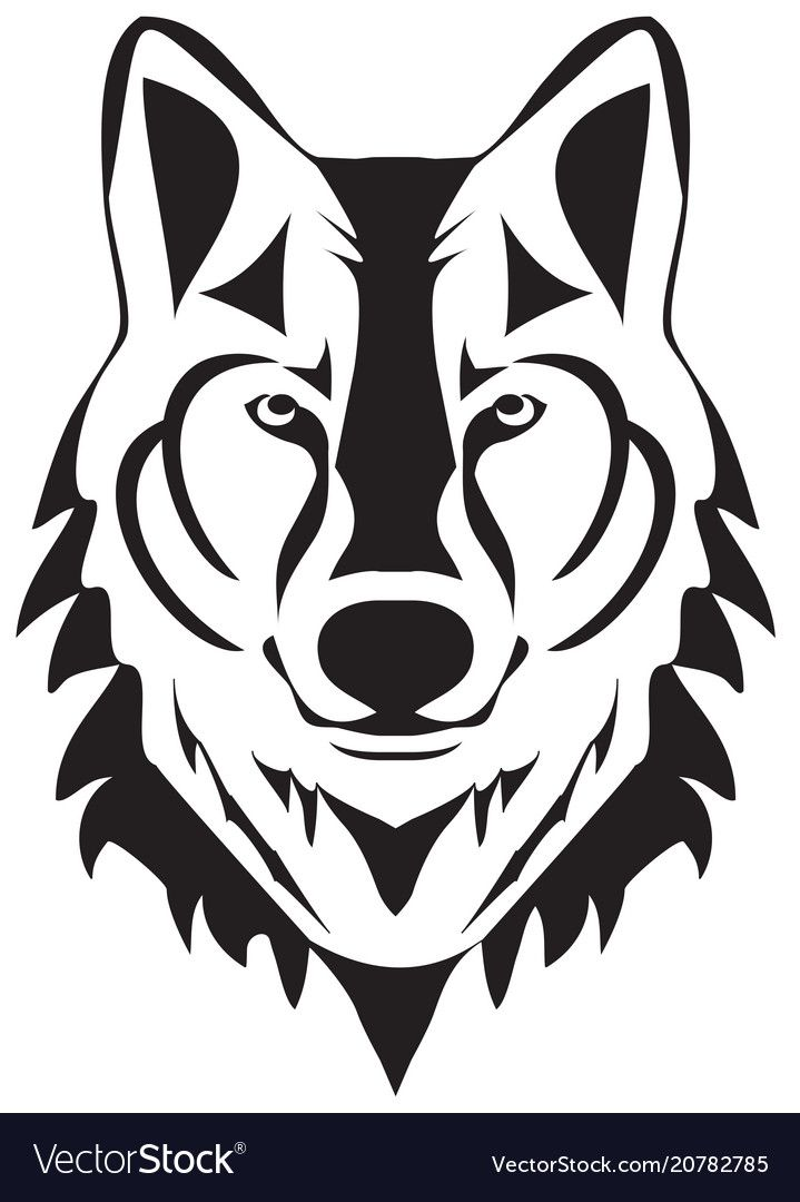 Wolf silhouette Royalty Free Vector Image - VectorStock ...