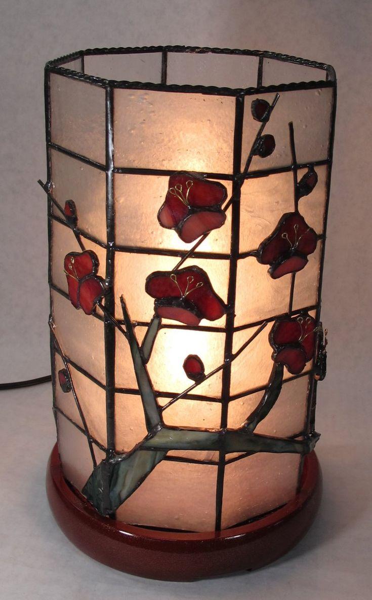 紅梅の筒型ランプの作り方