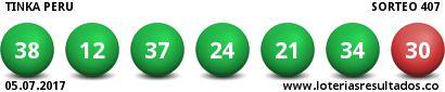 Resultado Tinka Miércoles 5 Julio 2017 Sorteo 407 - Resultados Loteria
