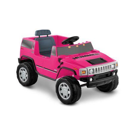 Hummer H2 6 Volt Battery Powered Ride On Pink Walmart Com Hummer H2 Hummer Hummer Cars