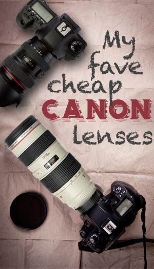 I want to find great lenses, but not spend a ton of money. Canon cameras and lenses are great so if I buy more of an inexpensive lens, it would not be a bad lens. It probably just would not take professional looking pictures.