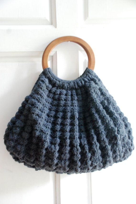Crochet Bags And Totes : ... ://www.etsy.com/listing/102202557/crochet-dark-gray-tote-purse-bag