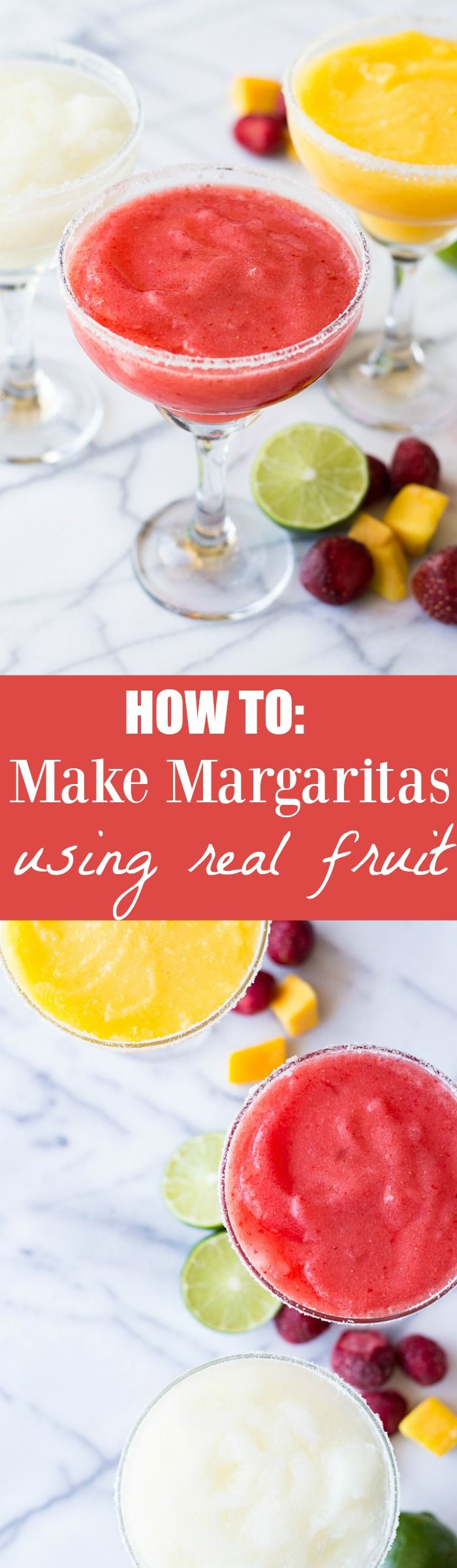 How To Make Margaritas (using real fruit)