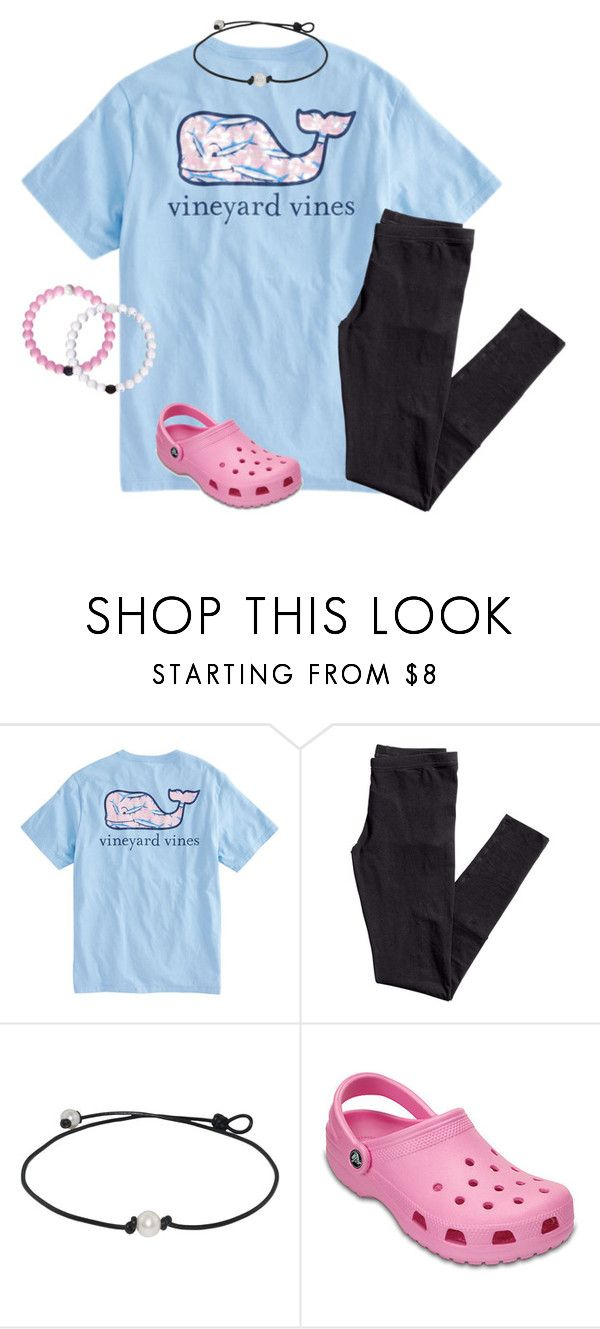 """""""these crocs are honestly so cute;)"""" by ellienoonan ❤ liked on Polyvore featuring Vineyard Vines and H&M"""